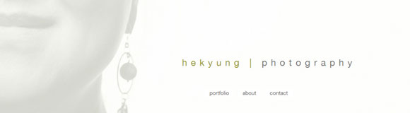 A clean, minimalist portfolio website for Virginia-based photographer Hekyung Parkbarr.  		<br />  		<a href='http://hekyung.com/' target='_blank'>hekyung.com</a>  		<br />  		HTML, CSS, Javascript
